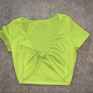Front Knot Crop Top - small